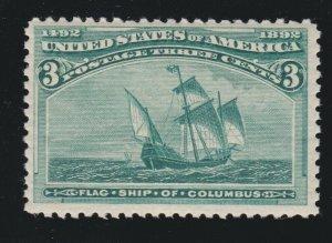 US 232 3c Columbian Exposition Mint VF OG NH SCV $99.50