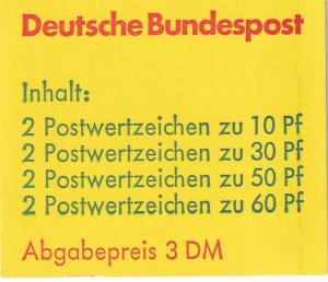 Germany #1231d Complete Booklet  CV $9.00 (A18298)