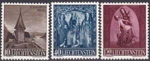 Liechtenstein #317-9 F-VF Unused  CV $7.95 (Z5176)