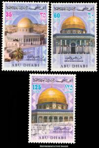 Abu Dhabi Scott 81-83 Mint never hinged.