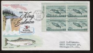 1956 Seattle Washington King Salmon Wildlife Conservation First Day Cover