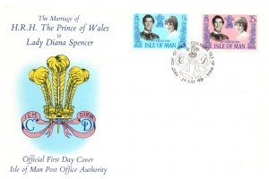 Isle of Man, Worldwide First Day Cover, Royalty