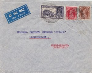 India 8a KGVI Mail Truck and 1a and 1/2a KGVI 1938 Kalbadevi, Bombay Airmail ...
