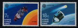 Cyprus 779-80 MNH Europa, Spacecraft