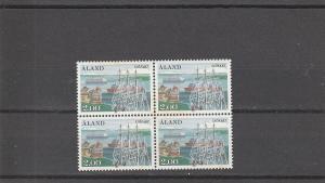 Aland  Scott#  23  MNH  Block of 4  (1984 Mariehamn West Harbor)