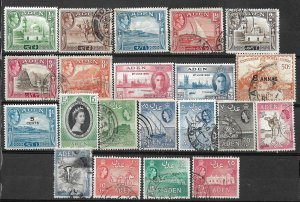 COLLECTION LOT #445 ADEN 21 STAMPS MH/USED 1939+