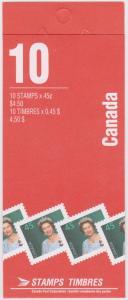Canada - 1955 45c QE Booklet VF-NH #BK179Ab