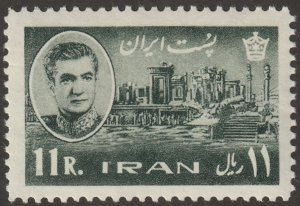 Persian/Iran stamp, Scott# 134, 1MNH, 11R, slate green,1965 year, #K-11