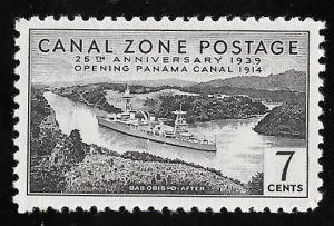 CANAL ZONE 125 7 cents 25th Anniversary Stamp Mint OG NH EGRADED XF 90 XXF