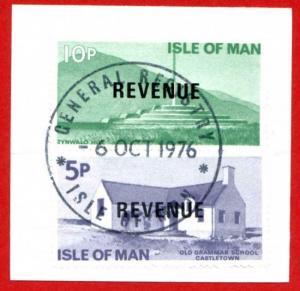Isle of Man 10p and 5p QEII Pictorial Revenue CDS On Piece
