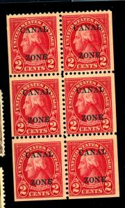 Canal Zone #101A MINT F-VF OG LH Missing Selvage Cat $200