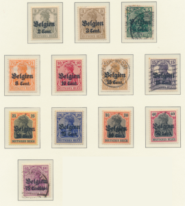 Belgium, German Occupation Stamps Scott #N10 To N21, Used/Mint Hinged Mixed -...
