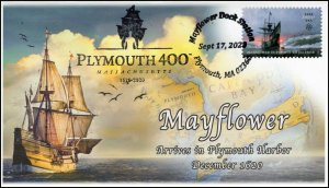 20-304, 2020, Plymouth 400, Event Cover, Pictorial Postmark, Mayflower, SC 5524