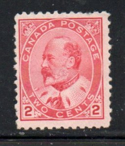 Canada Sc 90 1903 2 carmine Edward VII stamp mint