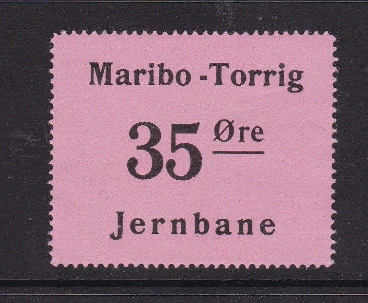 Denmark Railway Stamps Maribo-Torrig Mint Never Hung VGC