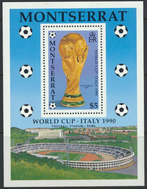 Montserrat    SG  MS832 - SC# 752  World Cup Italy   1990