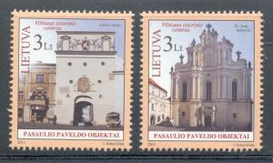 Lithuania Sc 952-3 2011 UNESCO Heritage Site stamps mint NH