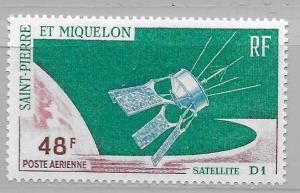 St. Pierre and Miquelon #C32 MNH CV$9.00 D1 Satellite [191207]
