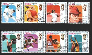 Cuba. 1980. 2454-61. Moscow Summer Olympics. USED.
