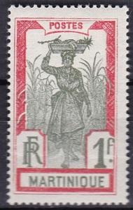 1927 Martinique Scott 95 Girl Bearing Pineapple in a  cane field mh