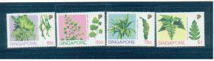 Singapore 1990 Sc 584-7 Ferns MNH