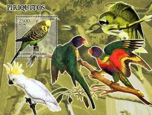 Guinea-Bissau - Parrots -  Souvenir Sheet GB5404b