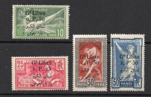 Lebanon - Sc# 45 - 48 MH  /  Lot 1018202