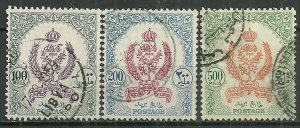 1955 Libya 164-6  Emblems with Royal Crown set of 3 used SCV$35