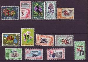 J24461 JLstamps 1964 sierra leone set mnh #271-9,c28-31 ovpt,s