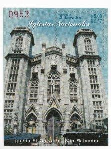 EL SALVADOR 2003 CHURCHES EL CALVARIO BUILDING SOUVENIR SHEET MNH MI BL61