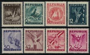 Austria #B171-8*  CV $2.85 End of Nazi occupation set