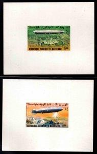Mauritania Scott C167-C168 Zeppelin proofs, Michel 543-544