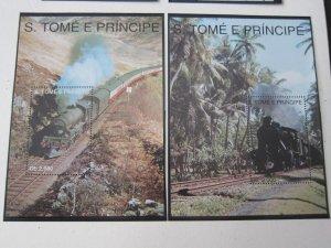 St. Thomas & Prince 1993 Sc 1138-9 Train set MNH
