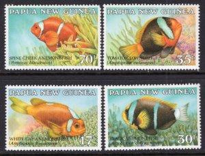 Papua New Guinea 659-662 Fish MNH VF