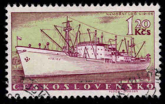 Czechoslovakia Scott 964 used Ship stamp CTO