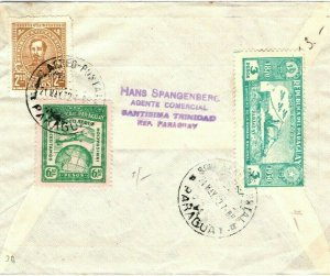 PARAGUAY Cover Santisima Trinidad Air Mail Banking GB Scotland Dundee 1932 SV26