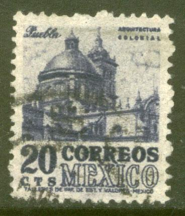 MEXICO 860, 20c 1950 Definitive wmk 279 Used (289)