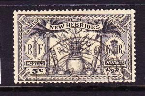 NEW HEBRIDES BRITISH 1925 1/2d WEAPONS  FU   SG 43
