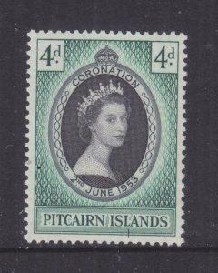 PICAIRN ISLANDS, 1953 Coronation 4d., lhm.