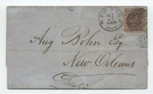 c1872 Prince Edward Island #16 FAKE COVER with bad PFC NY to New Orleans [y5071]