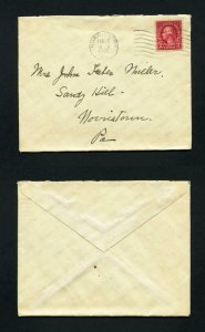 Cover from Norristown, Pennsylvania to Norristown, Pennsylvania dated 2-20-1926