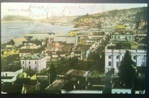 1913 Astoria Oregon Panorama Astoria OR to Knappton WA Printed Photo Postcard