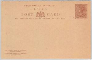LAGOS -  POSTAL STATIONERY CARD: Higgings & Gage # 3  DOUBLE CARD