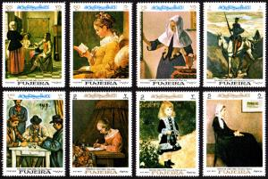 Fujeira Michel #198-205 set/8 mnh - 1967 Paintings - Vermeer Cezanne Renoir etc