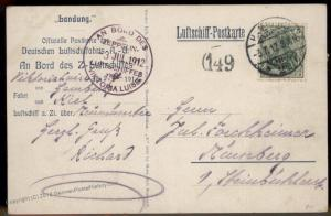 Germany 1912 Zeppelin Pioneer Viktoria Luise DELAG Drop Card Passenger Ham 91387