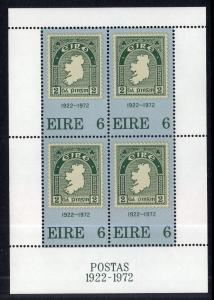 Ireland 326a Stamp on Stamp Souvenir Sheet MNH VF