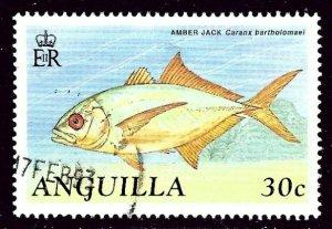 Anguilla 796 Used 1990 Fish    (ap4169)