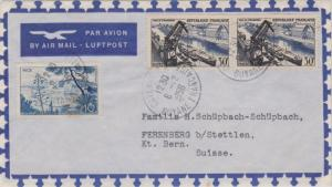 French Guiana France 10F Nice and 30F Port of Strasbourg (2) 1956 Cayenne R.P...