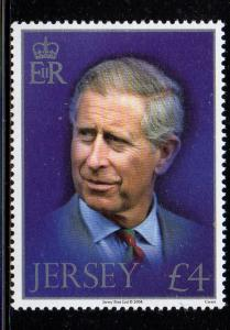 Jersey Sc 1349 2008 £4 60th Birthday Prince Charles stamp NH