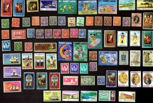 75 ST. LUCIA All Different Stamps (ALL YEARS) (C78)